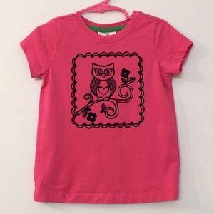 Hanna Andersson Owl Short-Sleeve T Size 100 /US 4